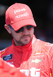 April 27, 2018 - Talladega, AL, U.S. - TALLADEGA, AL - APRIL 27:  Michael Annett, JR Motorsports, Chevrolet Camaro Pilot Flying J looks on during practice for the NASCAR Xfinity Series Sparks 300 race on April 27, 2018, at the Talladega Superspeedway in Talladega, AL.  (Photo by David John Griffin/Icon Sportswire) (Credit Image: © David J. Griffin/Icon SMI via ZUMA Press)