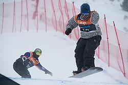 MOORE Ben, MATAGI Fatu, Snowboarder Cross, 2015 IPC Snowboarding World Championships, La Molina, Spain