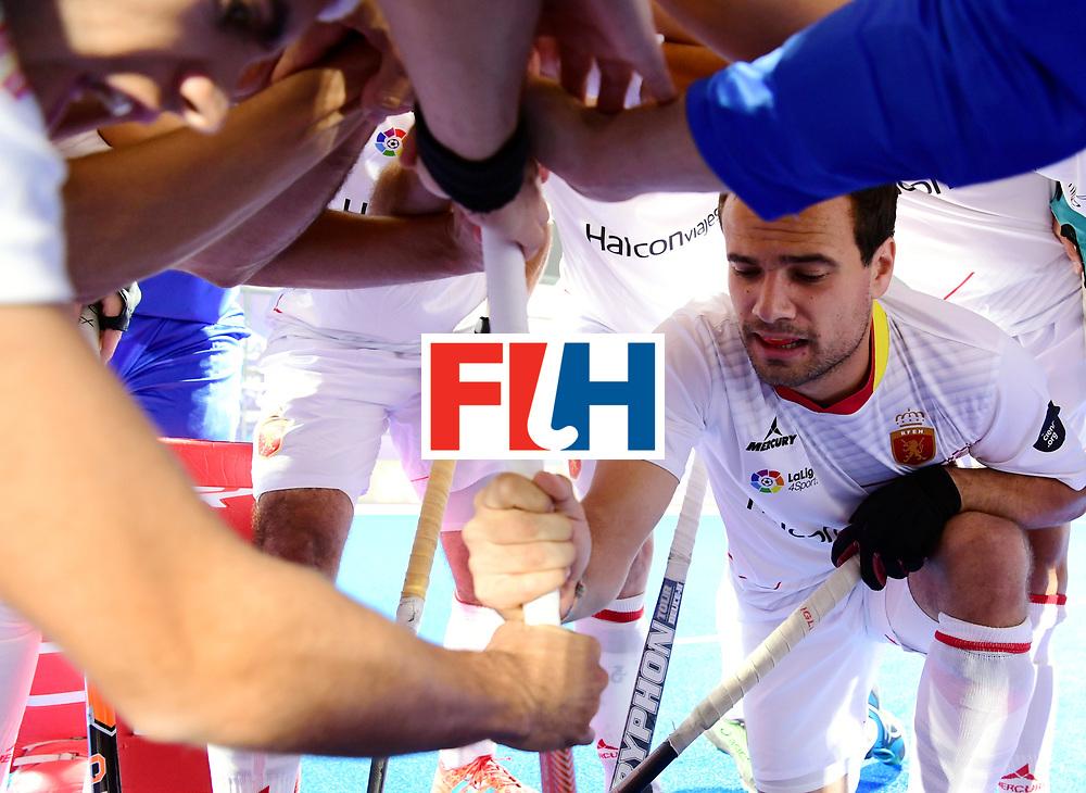 Odisha Men's Hockey World League Final Bhubaneswar 2017<br /> Match id:07<br /> Belgium v Spain<br /> Foto: Huddle Spain<br /> WORLDSPORTPICS COPYRIGHT FRANK UIJLENBROEK