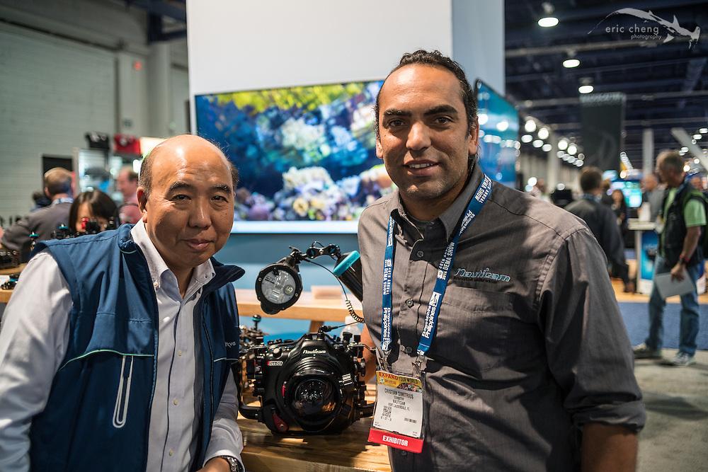 Edward Lai (Nauticam) and Cristian Dimitrius(DEMA 2016, Las Vegas)