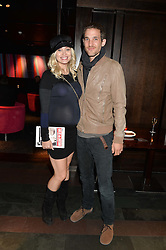 KIMBERLY WYATT and MAX ROGERS at the West End opening night of 'Great Britain' a  play by Richard Bean held at The Theatre Royal, Haymarket, London followed by a post show party at Mint Leaf, Suffolk Place, London on 26th September 2014.