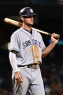 PHOENIX, AZ - JULY 06:  Wil Myers #4 of the San Diego Padres stands at bat in the seventh inning against the Arizona Diamondbacks at Chase Field on July 6, 2016 in Phoenix, Arizona.  (Photo by Jennifer Stewart/Getty Images)