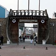 NLD/Lelystad/20080103 - Toegangspoort van outlet winkelcentrum Bataviastad in Lelystad
