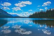 Cloud reflection at Emerald Lake<br /> Yoho National Park<br /> Alberta<br /> Canada