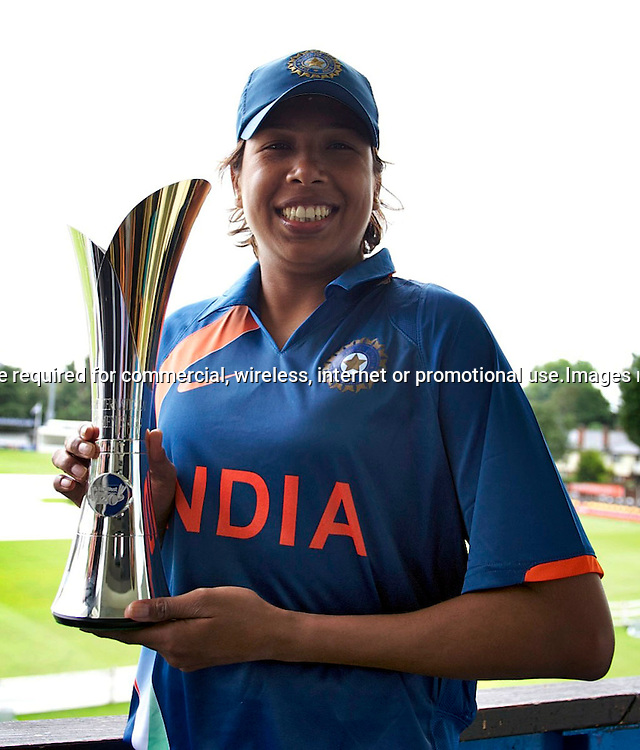 22.6.2011. Jhulan Goswami, India Women's cricket captain at the NatWest Women's Quadrangular Series between England, Australia, New Zealand and India, Launch at Essex CCC, The Ford County Ground, Chelmsford, Essex, England. 22 June 2011. Photo Michael Paler/ Photosport.co.nz