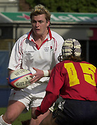 Twickenham. England, Women's International Rugby England v Spain, at the Twickenham Stoop. on 09/03/2003. England full back, Chris Driver running with the ball.. [Mandatory Credit: Peter Spurrier/ Intersport Images]