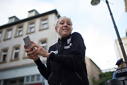 Rachel Neylan (AUS) of Team Australia takes a photo of a final corner after finishing her run of the prologue of the Lotto Thuringen Ladies Tour - a 6.1 km individual time trial, starting and finishing in Gera on July 12, 2017, in Thuringen, Germany. (Photo by Balint Hamvas/Velofocus.com)