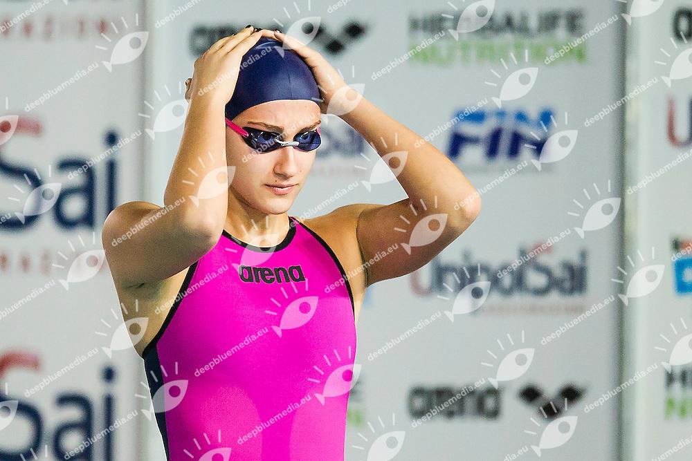 Simona Quadarella C.C. Aniene<br /> Day01 800 Stile Libero Donne<br /> Campionati Italiani Assoluti Nuoto Invernali Open Fin<br /> Riccione Italy 18-19/12/2015<br /> Photo Andrea Masini/Deepbluemedia/Insidefoto