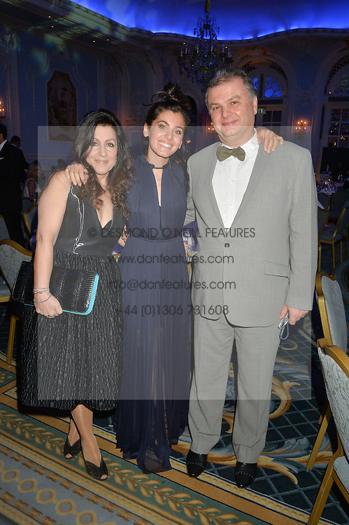 Singer KATIE MELUA and her parents AMIRAN & TAMARA MELUA at the Gift of Life Gala Ball celebrating the Russian Old new Year's Eve in aid of the Gift of Life foundation held at The Savoy, London on 13th January 2015.