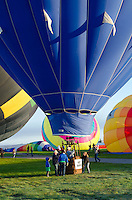 'Blues Breaker' readying for flight, Crown of Maine Balloon Fair, Presque Isle, Maine.