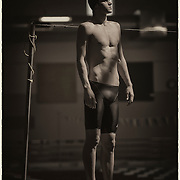 Michael Andrew, a 16-year-old professional swimmer who lives just outside of Lawrence with his family, is training with the eventual goal of qualifying for the 2016 Rio Olympic Games. Andrew, who normally trains at a 25-meter, two-lane pool built at his home, was training at the Lawrence Aquatic Center while his home pool water was being treated.