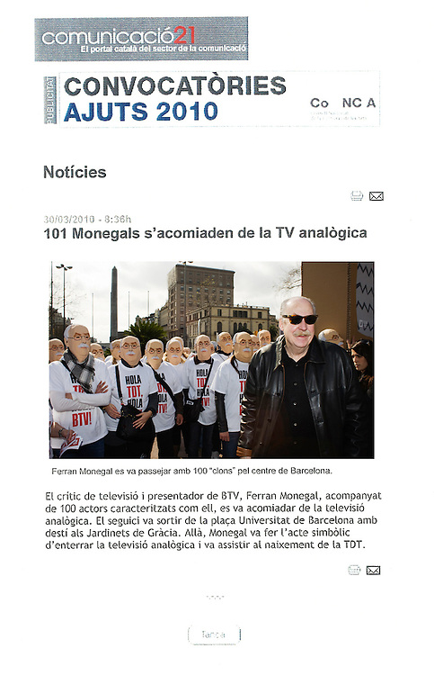 Assignments for Barcelona Televisió (BTV)
