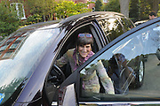 United States Congresswoman Rosa DeLauro, 69, a Democrat representing Connecticut's Third district. She is currently in her eleventh term, having been in Congress for twenty one years...DeLauro leaving her home on East Capitol street, eight blocks from her work place, in the morning.