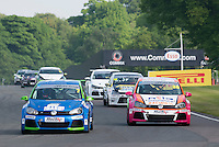 #7 Kenan DOLE  Team Hard Volkswagen Golf and #36 Kieran GORDON  Team Hard  Volkswagen Golf  Milltek Sport Volkswagen Racing Cup at Oulton Park, Little Budworth, Cheshire, United Kingdom. May 30 2016. World Copyright Peter Taylor/PSP.