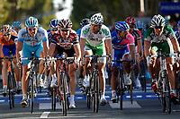 Sykkel<br /> Foto: imago/Digitalsport<br /> NORWAY ONLY<br /> <br /> 08.10.2006  <br /> <br /> Paris - Tours 2006, das Hauptfeld kommt ins Ziel, v. li.: Frank Hoj, (Dänemark / Gerolsteiner), Stuart O Grady (Australien / CSC), Baden Cooke (Australien / Unibet.com), Danilo Napolitano (Italien / Lampre), Thor Hushovd (Norwegen / Credit Agricole)