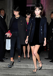 Pixie Geldof, Alexa Chung and Daisy Lowe attend the Tunnel of Love fundraiser in aid of the British Heart Foundation at One Mayfair in London, UK. 12/11/2013<br />BYLINE MUST READ : GOTCHAIMAGES.COM<br /><br />Copyright by © Gotcha Images Ltd. All rights reserved.<br />Usage of this image is conditional upon the acceptance <br />of Gotcha Images Ltd, terms and conditions available at<br />www.gotchaimages.com