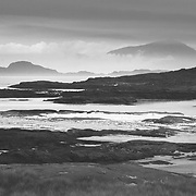 Wonderful layers of coastal rock and mist from Sanna Bay, Ardnamurchan