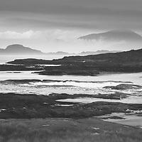 Wonderful layers of coastal rock and mist from Sanna Bay, Ardnamurchan