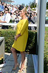 ZARA PHILLIPS at the 3rd day of the 2013 Glorious Goodwood racing festival - Ladies day at Goodwood Racecourse, West Sussex on 1st August 2013.