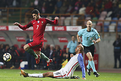 November 14, 2017 - Leiria, Portugal - Gonalo Guedes (L) vies with Jonh Brooks during the Friendly match  football match between Portugal and USA at Municipal de Leiria Stadium in Leiria on November 14, 2017. (Credit Image: © Carlos Costa/NurPhoto via ZUMA Press)