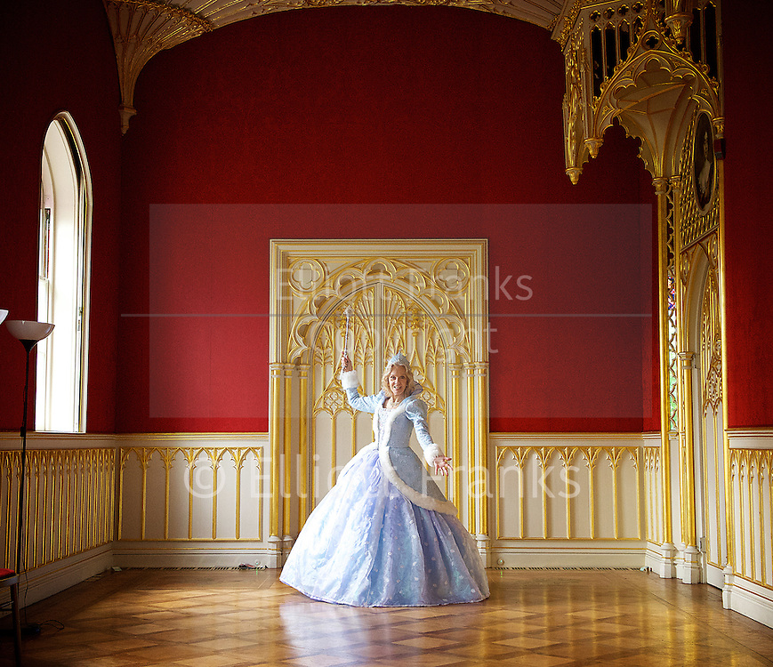 Hayley Mills as Fairy Godmother at the Cinderella publicity shoot for the Richmond Theatre production of Cinderella at Strawberry Hill House, Strawberry Hill, Nr Richmond, Great Britain <br /> 14th October 2015 <br /> <br /> Hayley Mills as Fairy Godmother <br /> <br /> Photograph by Elliott Franks <br /> Image licensed to Elliott Franks Photography Services