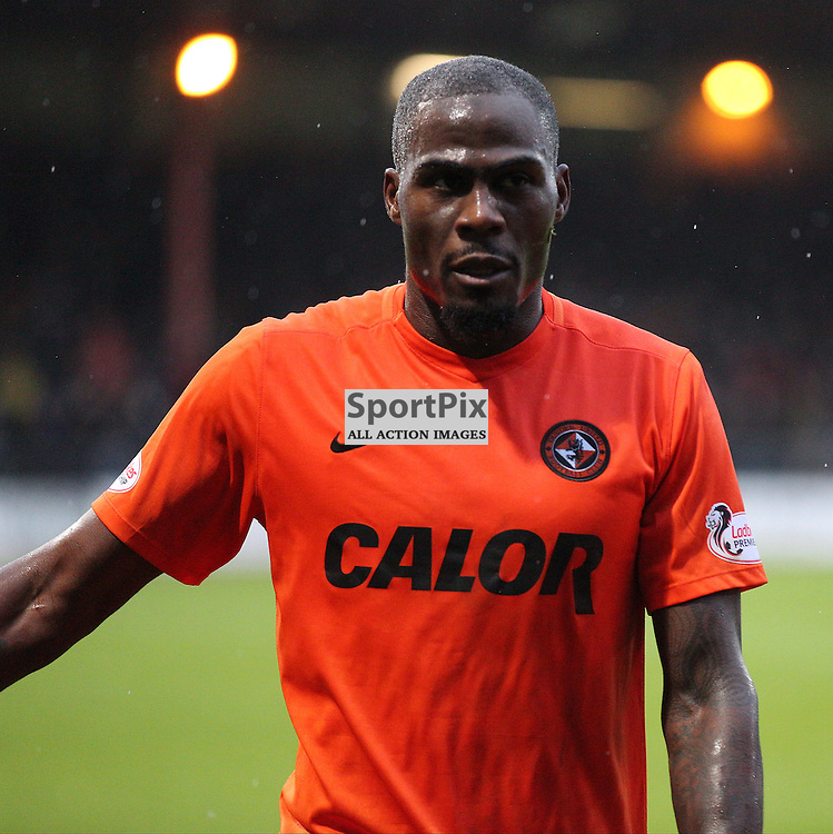 Dundee v Dundee United Scottish Premiership 2 January 2016; Guy Demel (Dundee United, 55), sent off during the Dundee v Dundee United Scottish Premiership match played at Dens Park Stadium;