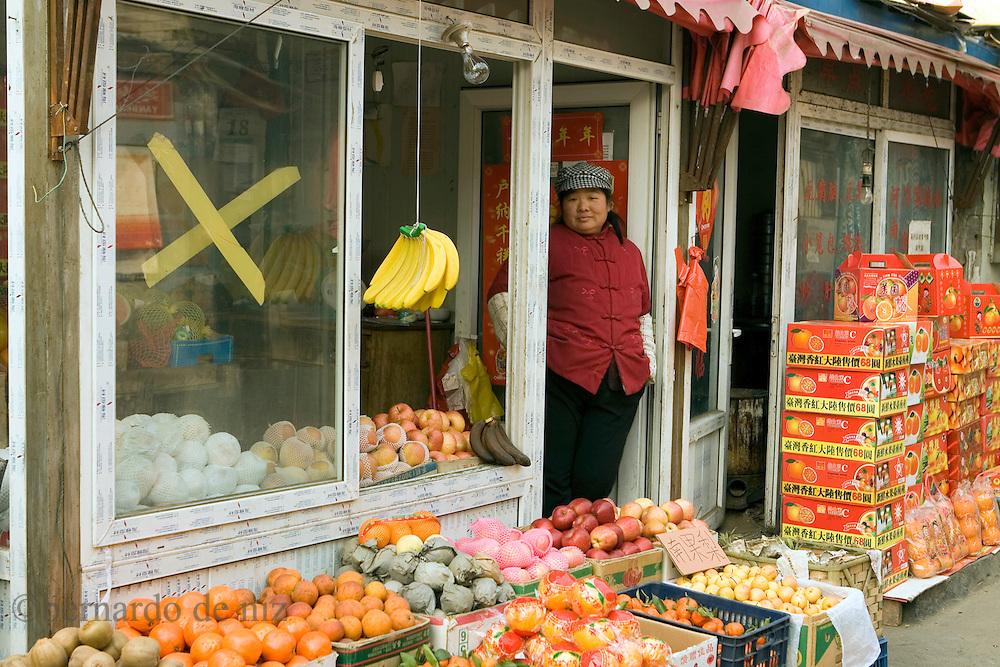 Daily life in the old Hugtongs downtown  Beijing, China, on Monday February 16, 2008. Photographer: Bernardo De Niz