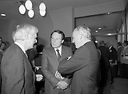 24/08/1984<br /> 08/24/1984<br /> 24 August 1984<br /> Opening of ROSC '84 at the Guinness Store House, Dublin. At the event were  Minister of State for Arts and Culture Ted Nealon (centre) and Mr Brian Slowey, Managing Director, Guinness,Ireland.