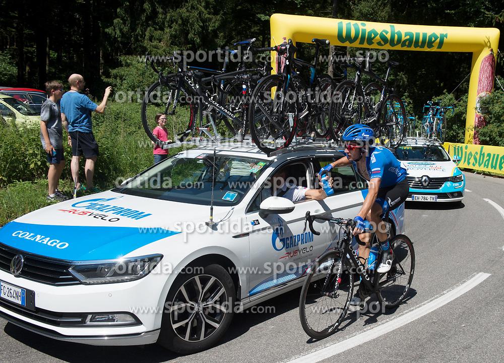 05.07.2017, Altheim, AUT, Ö-Tour, Österreich Radrundfahrt 2017, 3. Etappe von Wieselburg nach Altheim (226,2km), im Bild Alexander Foliforov (RUS, Gazprom - Rusvelo) // Alexander Foliforov of Russia (Gazprom - Rusvelo) during the 3rd stage from Wieselburg to Altheim (199,6km) of 2017 Tour of Austria. Altheim, Austria on 2017/07/05. EXPA Pictures © 2017, PhotoCredit: EXPA/ Reinhard Eisenbauer