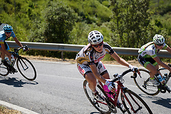 Kseniya Dobrynina descends on Stage 8 of the Giro Rosa - a 141.8 km road race, between Baronissi and Centola fraz. Palinuro on July 7, 2017, in Salerno, Italy. (Photo by Sean Robinson/Velofocus.com)