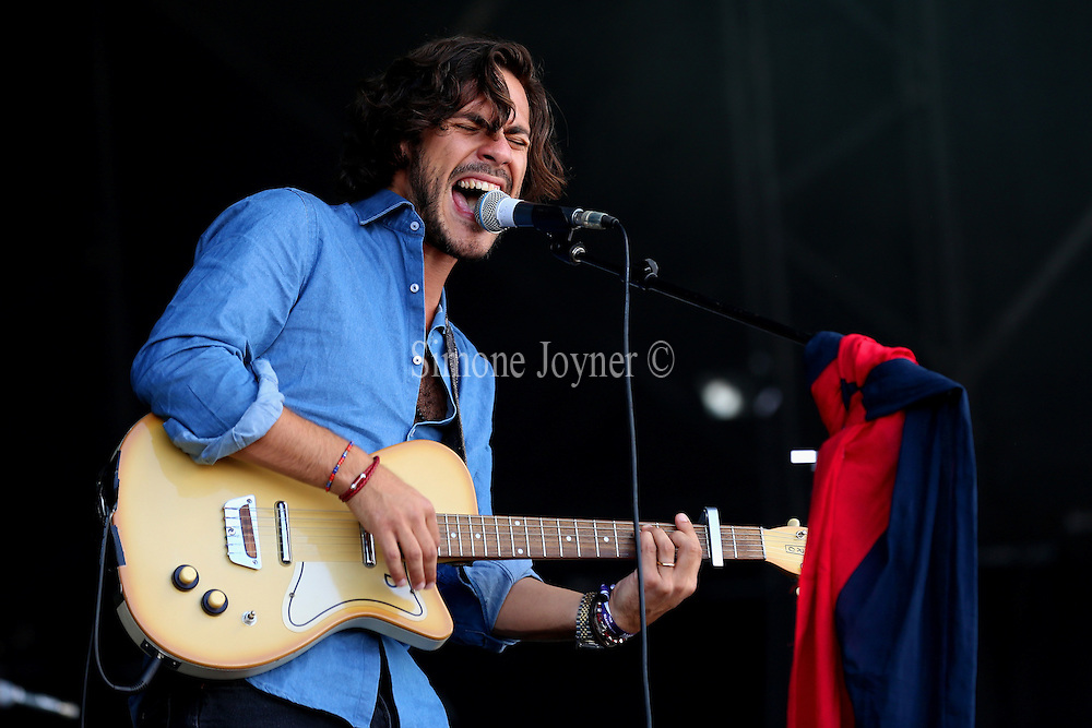 Musician Jack Savoretti performs live on the main stage during day one of the OnBlackheath Festival at Blackheath Common on September 12, 2015 in London, England.  (Photo by Simone Joyner)