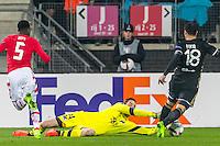 ALKMAAR - 16-02-2017, AZ - Olympique Lyon, AFAS Stadion, AZ keeper Tim Krul