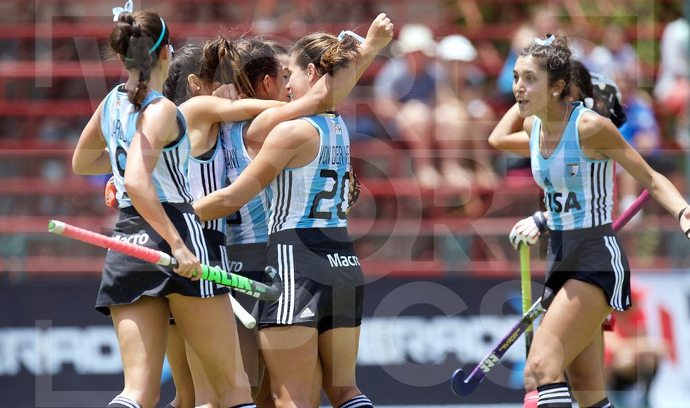 SANTIAGO - 2016 8th Women's Hockey Junior World Cup<br /> ARG v JPN (Pool B)<br /> foto: Argentina Maria Ortiz scores<br /> FFU PRESS AGENCY COPYRIGHT FRANK