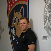 JUNE 15, 2017--SUNRISE, FLORIDA<br /> Shawn Thornton, a former Boston Bruins player known as the team's enforcer, is now the Florida Panthers VP for business operations.<br /> (Photo by Angel Valentin/Freelance)