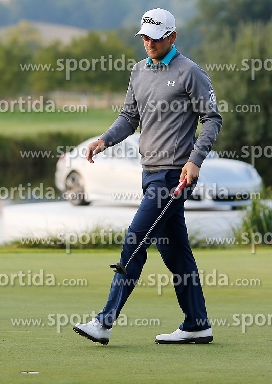 24.09.2015, Beckenbauer Golf Course, Bad Griesbach, GER, PGA European Tour, Porsche European Open, im Bild Bernd Wiesberger nach Birdie Putt an der 18 // during the European Tour, Porsche European Open Golf Tournament at the Beckenbauer Golf Course in Bad Griesbach, Germany on 2015/09/24. EXPA Pictures &copy; 2015, PhotoCredit: EXPA/ SM<br /> <br /> *****ATTENTION - OUT of GER*****