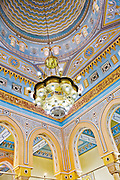 Ceiling of a mosque in Jumeirah, Dubai, United Arab Emirates. Educational tours are held for tourists.