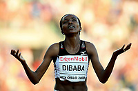 Friidrett , 6. juni 2008 , Golden League Bislett Games <br /> Tirunish Dibaba new world record 5000 m