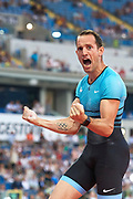 Poland, Chorzow - 2018 June 08: Renaud Lavillenie in action while men's pole vault competition during Orlen Kusocinski Memorial 2018 at Slaski Stadium on June 08, 2018 in Chorzow, Poland.<br /> <br /> Mandatory credit:<br /> Photo by &copy; Adam Nurkiewicz<br /> <br /> Adam Nurkiewicz declares that he has no rights to the image of people at the photographs of his authorship.<br /> <br /> Picture also available in RAW (NEF) or TIFF format on special request.<br /> <br /> Any editorial, commercial or promotional use requires written permission from the author of image.