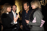 JEMIMA KHAN; JAN OLESEN; MARIO TESTINO; NICOLA FORNBY, Party to celebrate Vanity Fair's very British Hollywood issue. Hosted by Vanity Fair and Working Title. Beaufort Bar, Savoy Hotel. London. 6 Feb 2015
