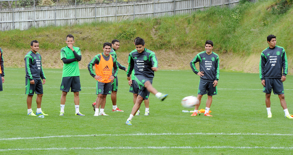 Mexico Footballers at the teams first training run at Dave Farrington Park, Miramar after their arrival for the FIFA World Cup qualifier match against New Zealand on Wednesday, Wellington, New Zealand, Sunday, November 17, 2013. Credit:SNPA / Ross Setford