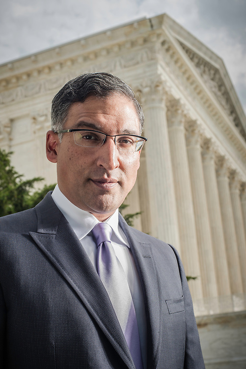 WASHINGTON, DC -- 8/10/17 -- Supreme Court lawyer Neal Katyal is one of the leading attorneys for the state of Hawaii as they fight President Trump's travel ban. Katyal, now an attorney with Hogan Lovells, and former Acting Solicitor General, has argued more cases before the Supreme Court, 34, than any other minority attorney except Thurgood Marshall, with whom he's currently tied..…by André Chung #_AC13941