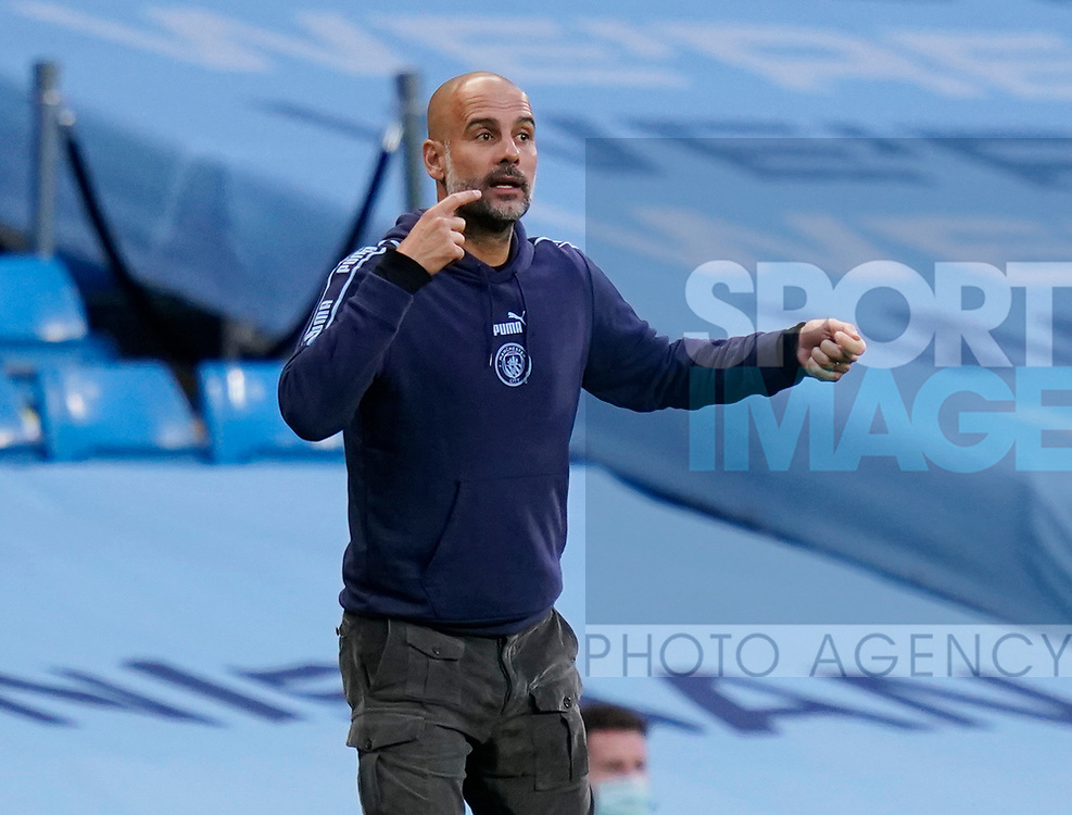Josep Guardiola manager of Manchester City during the Premier League match at the Etihad Stadium, Manchester. Picture date: 22nd February 2020. Picture credit should read: Andrew Yates/Sportimage