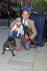 BEN DE LISI and his dogs at The Dog's Trust Awards announcement held at George, 87-88 Mount Street, London on 27th March 2012.