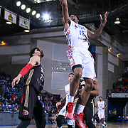 Delaware 87ers Forward Rahlir Hollis-Jefferson (15) drives towards the basket for standard lay up in the first half of a NBA D-league regular season basketball game between the Delaware 87ers and the Erie BayHawk (Orlando Magic) Friday, Mar. 27, 2015 at The Bob Carpenter Sports Convocation Center in Newark, DEL.
