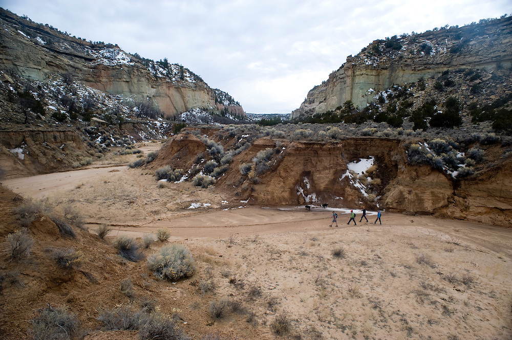 Big House Canyon has many ruins amid the beautiful terrain.