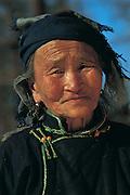 Darkhad woman<br /> near Lake Hovsgol<br /> Northern Mongolia