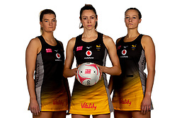 Fran Williams, Hannah Knights and Josie Huckle of Wasps Netball - Mandatory by-line: Robbie Stephenson/JMP - 02/11/2019 - NETBALL - Ricoh Arena - Coventry, England - Wasps Netball Headshots