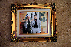 WARNING - UNCERTAIN ORIGIN AND AUTHENTICITY - MAY BE PHOTOSHOPPED..UK ENGLAND WILTSHIRE MELKSHAM 17DEC09 - A photo of Andy Park and Cliff Richard at Park's house in Melksham, Wiltshire, where the self-proclaimed Mr Christmas celebrates Christmas every day. Mr Park, a 45-year-old divorced electrician, has consumed nearly 118,000 brussel sprouts and about 5000 bottles of Moet champagne since he decided to get into the festive spirit full-time in July 1994...jre/Photo by Jiri Rezac..© Jiri Rezac 2009