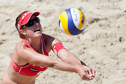 Isabelle Forrer .of Switzerland at A1 Beach Volleyball Grand Slam presented by ERGO tournament of Swatch FIVB World Tour 2012, on July 17, 2012 in Klagenfurt, Austria. (Photo by Matic Klansek Velej / Sportida)
