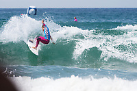 Huntington Beach, CA - August 06: Courtney Conlogue competes in the women's semifinal at the Vans US Open of Surfing in Huntington Beach, California on August 6th, 2017. (Photo Jim Kruger/Kruger-images.com)